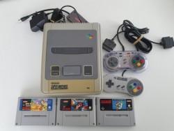 Konsole Super Nintendo + 3...