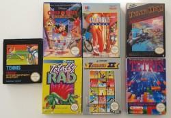 5 jeux Nes + 2 boites