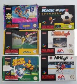 Lot 6 jeux Super Nintendo