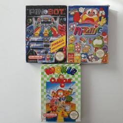 3 jeux Nes - Pinball +...